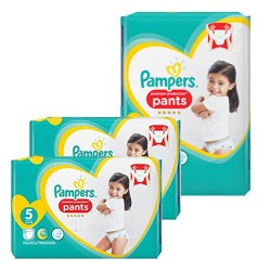 Pampers - Mega pack 120 Couches Premium Protection Pants taille 5