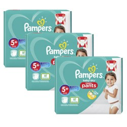 Pampers - Mega pack 170 Couches Baby Dry Pants taille 5+ sur Les Couches