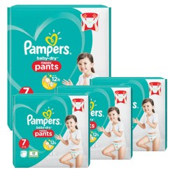 Pampers - Mega pack 116 Couches Baby Dry Pants taille 7 sur Les Couches