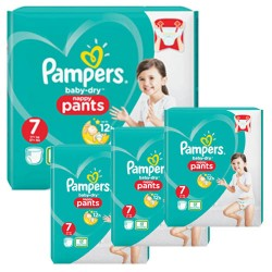 Pampers - Mega pack 174 Couches Baby Dry Pants taille 7 sur Les Couches