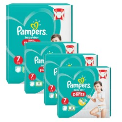 Pampers - Giga pack 232 Couches Baby Dry Pants taille 7 sur Les Couches