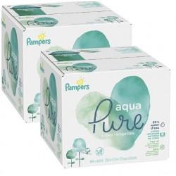 Pampers - Mega pack 180 Lingettes Bébés Aqua Pure sur Les Couches