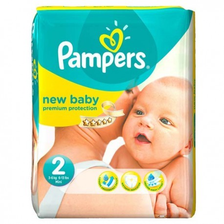Pampers - Pack 66 Couches New Baby Dry taille 2 sur Les Couches