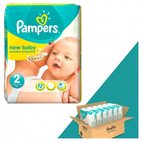 Pampers - Mega pack 198 Couches New Baby Dry taille 2 sur Les Couches