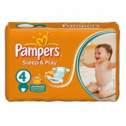 Pampers - Pack 68 Couches Sleep & Play taille 4 sur Les Couches