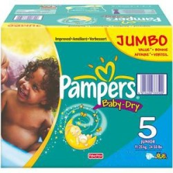 Pampers - Mega pack 120 Couches Baby Dry taille 5