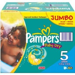 Pampers - Mega pack 150 Couches Baby Dry taille 5