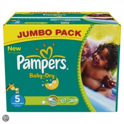 Pampers - Giga pack 240 Couches Baby Dry taille 5
