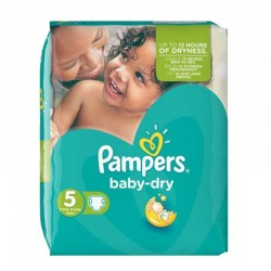 Pampers - Pack 74 Couches Baby Dry taille 5 sur Les Couches