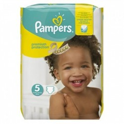Pampers - Mega pack 136 Couches New Baby Premium Protection taille 5
