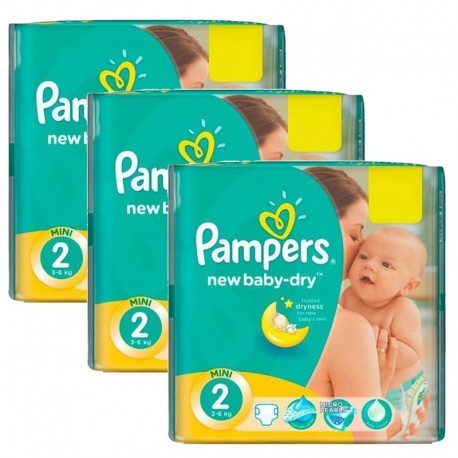 Pampers - Mega pack 160 Couches New Baby Dry taille 2 sur Les Couches