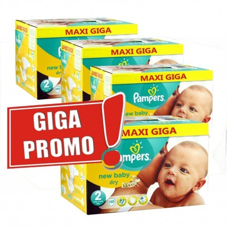 Pampers - Maxi mega pack 480 Couches New Baby Dry taille 2 sur Les Couches