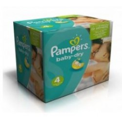 Pampers - Mega pack 120 Couches Baby Dry taille 4