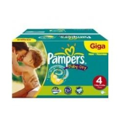 Pampers - Mega pack 150 Couches Baby Dry taille 4