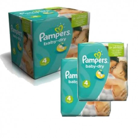 Pampers - Maxi mega pack 420 Couches Baby Dry taille 4 sur Les Couches