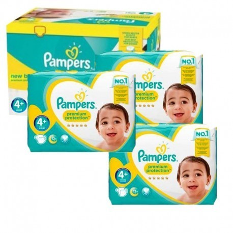 Pampers - Mega pack 105 Couches New Baby Premium Protection taille 4+ sur Les Couches