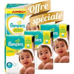 Pampers - Maxi mega pack 420 Couches New Baby Premium Protection taille 4+ sur Les Couches