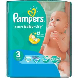 Pampers - Pack 58 Couches Active Baby Dry taille 3