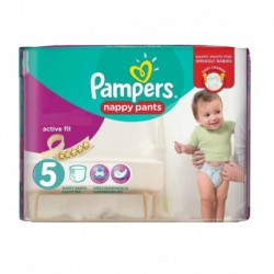 Pampers - Pack 17 Couches Active Fit Pants taille 5 sur Les Couches