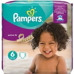 Pampers - Mega pack 120 Couches Active Fit taille 6 sur Les Couches