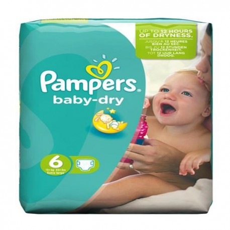 Pampers - Pack 31 Couches Baby Dry taille 6 sur Les Couches