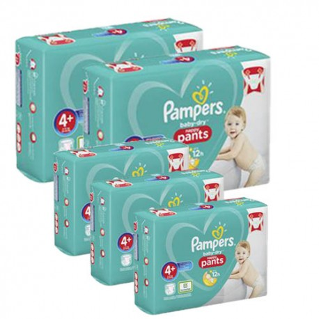 Pampers - Mega pack 198 Couches Baby Dry Pants taille 4+ sur Les Couches
