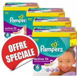 Pampers - Giga pack 240 Couches Active Fit taille 6 sur Les Couches