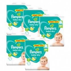 Pampers - Pack 63 Couches Baby Dry taille 7 sur Les Couches