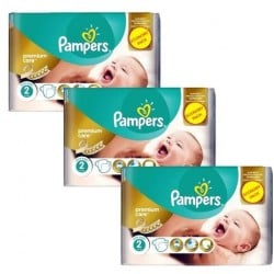 Pampers - Mega pack 176 Couches New Baby Premium Care taille 2 sur Les Couches