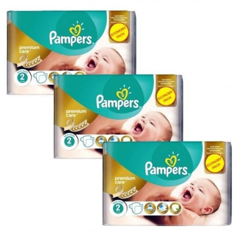 Pampers - Maxi giga pack 308 Couches New Baby Premium Care taille 2 sur Les Couches