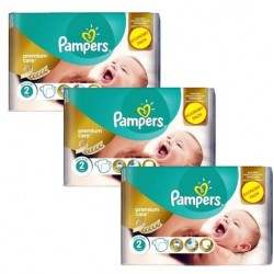 Pampers - Maxi giga pack 330 Couches New Baby Premium Care taille 2 sur Les Couches