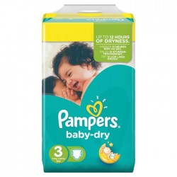 LesCouches Pack 34 couches Pampers Baby Dry