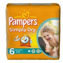 LesCouches Pack 62 couches Pampers Simply Dry