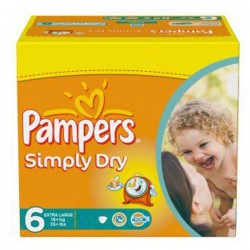 Pampers - 62 Couches Simply Dry taille 6 sur Les Couches