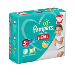 Pampers - Pack 72 Couches Baby Dry Pants taille 5+ sur Les Couches