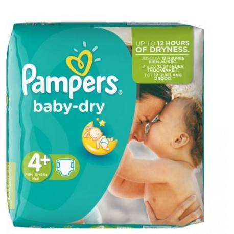 Pampers - Pack 31 Couches Baby Dry taille 4+ sur Les Couches