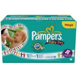 Pampers - Maxi mega pack 434 Couches Baby Dry taille 4+ sur Les Couches