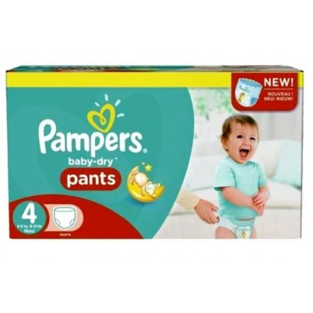 Pampers - Giga pack 207 Couches Baby Dry Pants taille 4 sur Les Couches