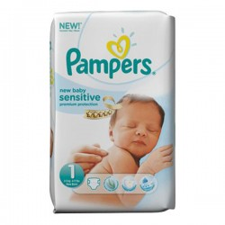LesCouches Pack 23 couches Pampers New Baby Sensitive