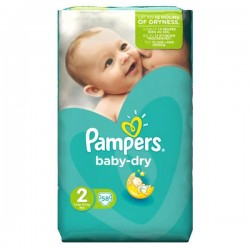 Pampers - 58 Couches Baby Dry taille 2
