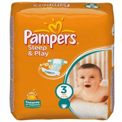 Pampers - 500 Couches Sleep & Play taille 3 sur Les Couches