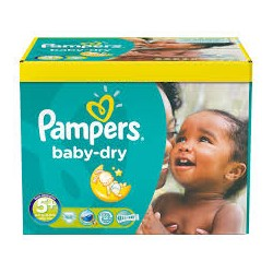 Pampers - 245 Couches Baby Dry taille 5+ sur Les Couches