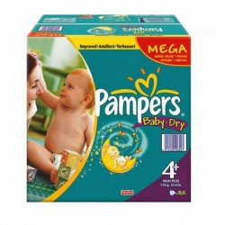 Pampers - 328 Couches Baby Dry taille 4+ sur Les Couches