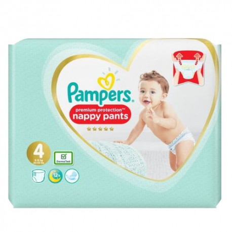 Pampers - Pack 19 Couches Premium Protection Pants taille 4 sur Les Couches