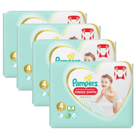 Pampers - Maxi mega pack 456 Couches Premium Protection Pants taille 4 sur Les Couches