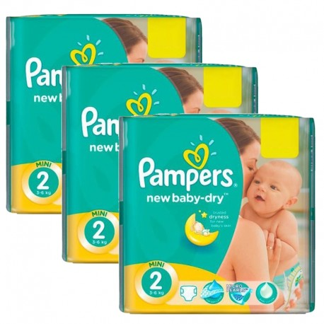 Pampers - Pack jumeaux 560 Couches New Baby Dry taille 2 sur Les Couches