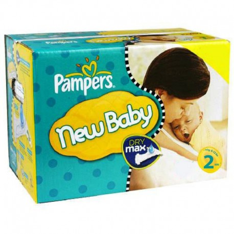 Pampers - Pack jumeaux 640 Couches New Baby Dry taille 2 sur Les Couches