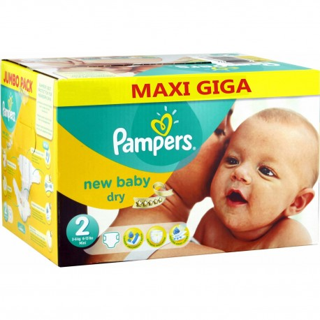 Pampers - Pack jumeaux 800 Couches New Baby Dry taille 2 sur Les Couches