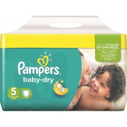 Pampers - 54 Couches Baby Dry taille 5 sur Les Couches