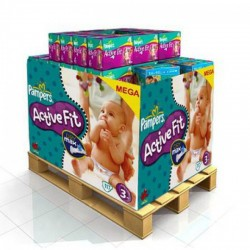 LesCouches Maxi Giga Pack 336 couches Pampers Active Fit